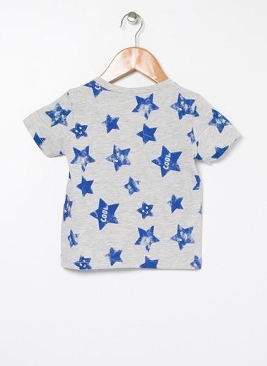 Koton Koton Baskılı Gri T-Shirt Gri